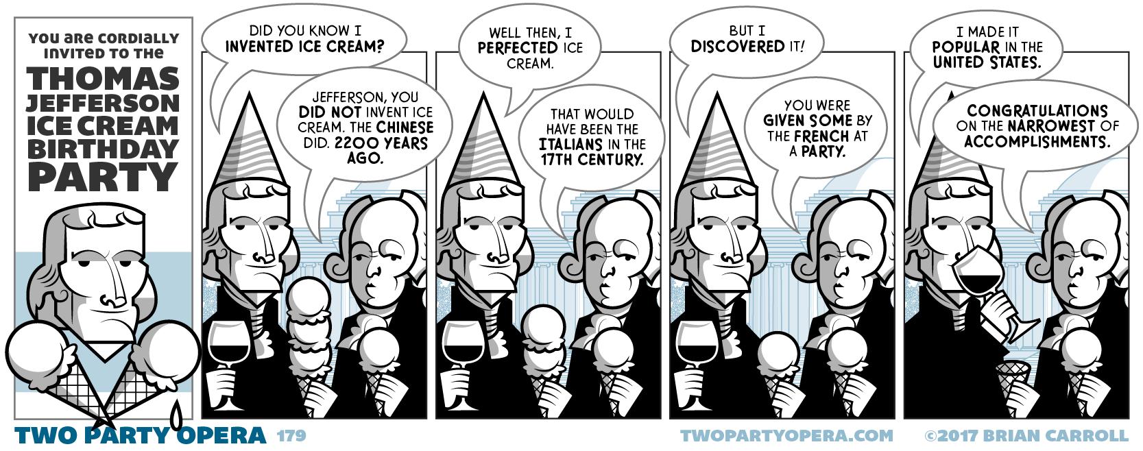 Thomas Jefferson Loves Ice Cream