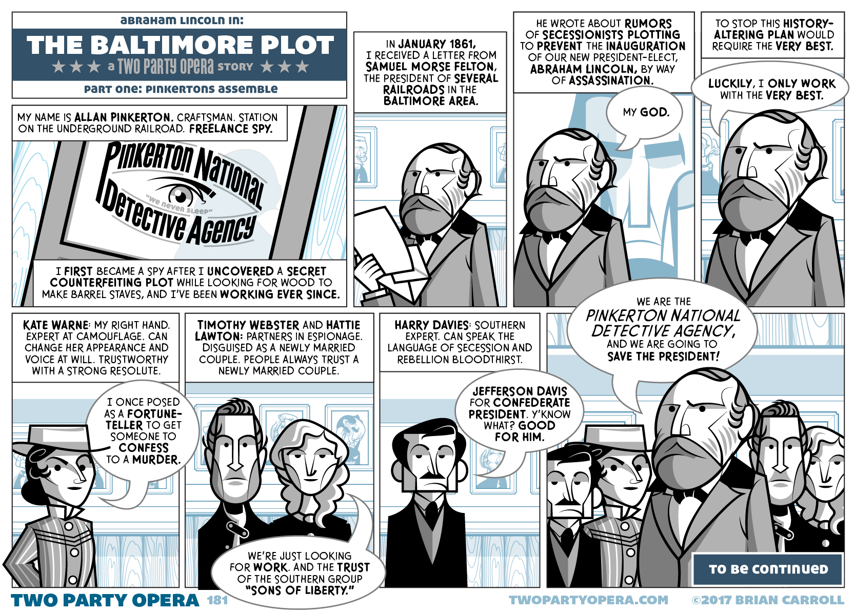 The Baltimore Plot – Part One: Pinkertons Assemble