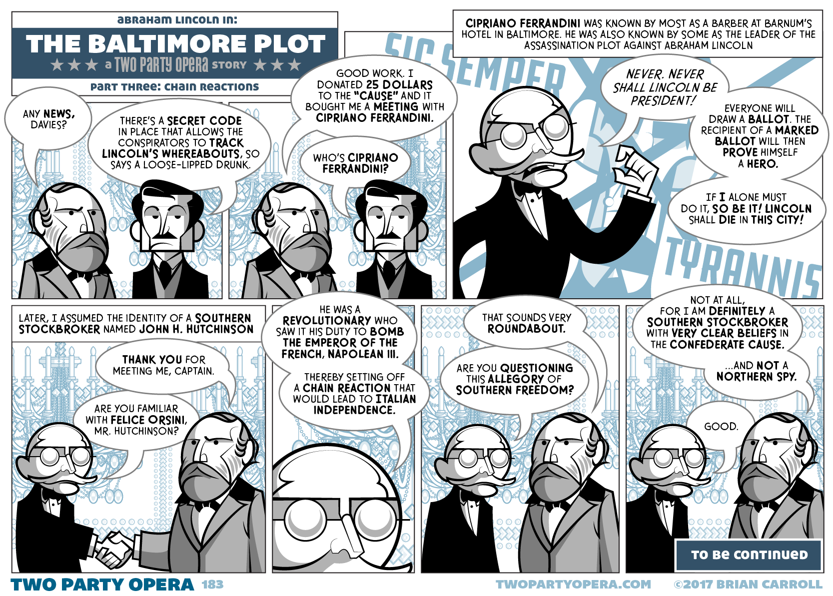 The Baltimore Plot – Part Three: Chain Reactions