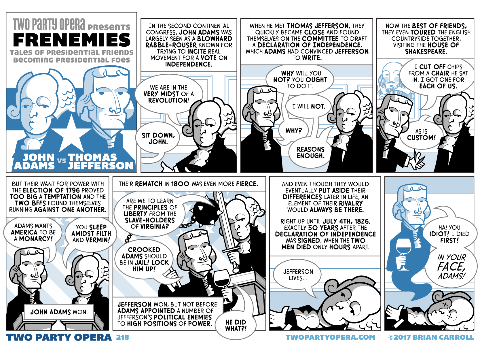 Frenemies – John Adams VS Thomas Jefferson