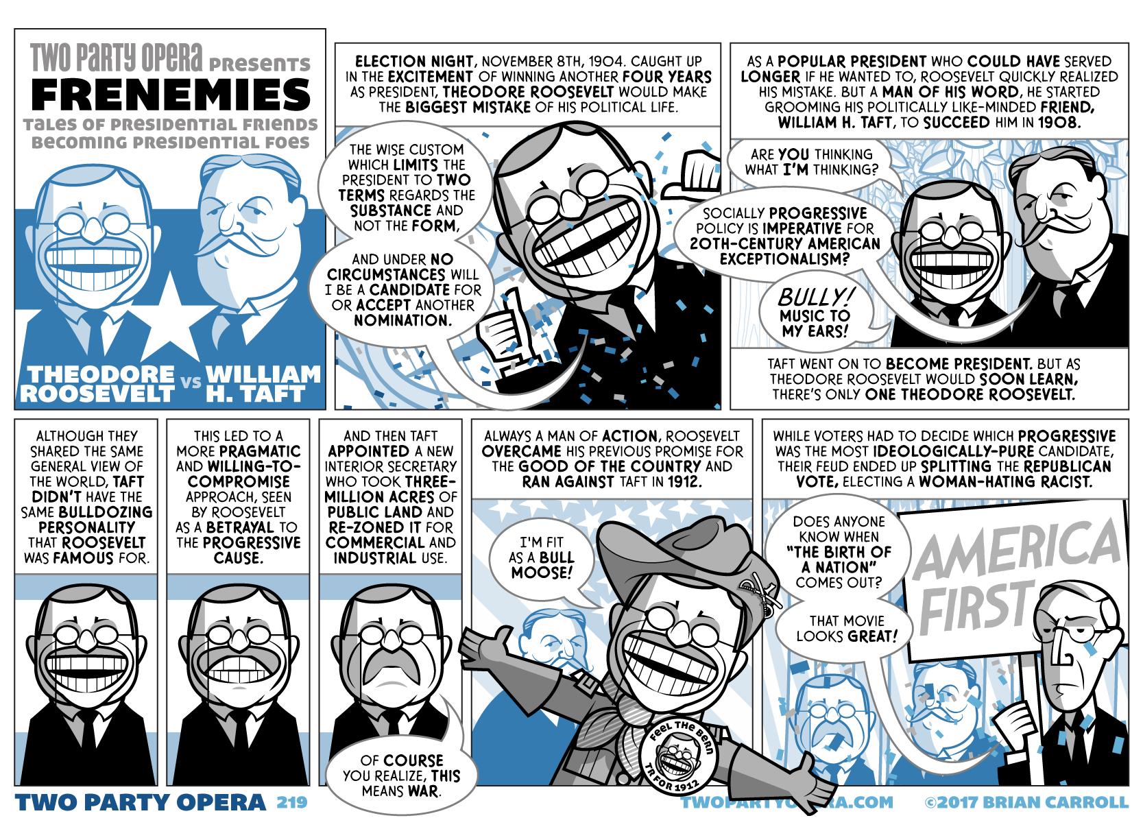 Frenemies – Theodore Roosevelt VS William H. Taft