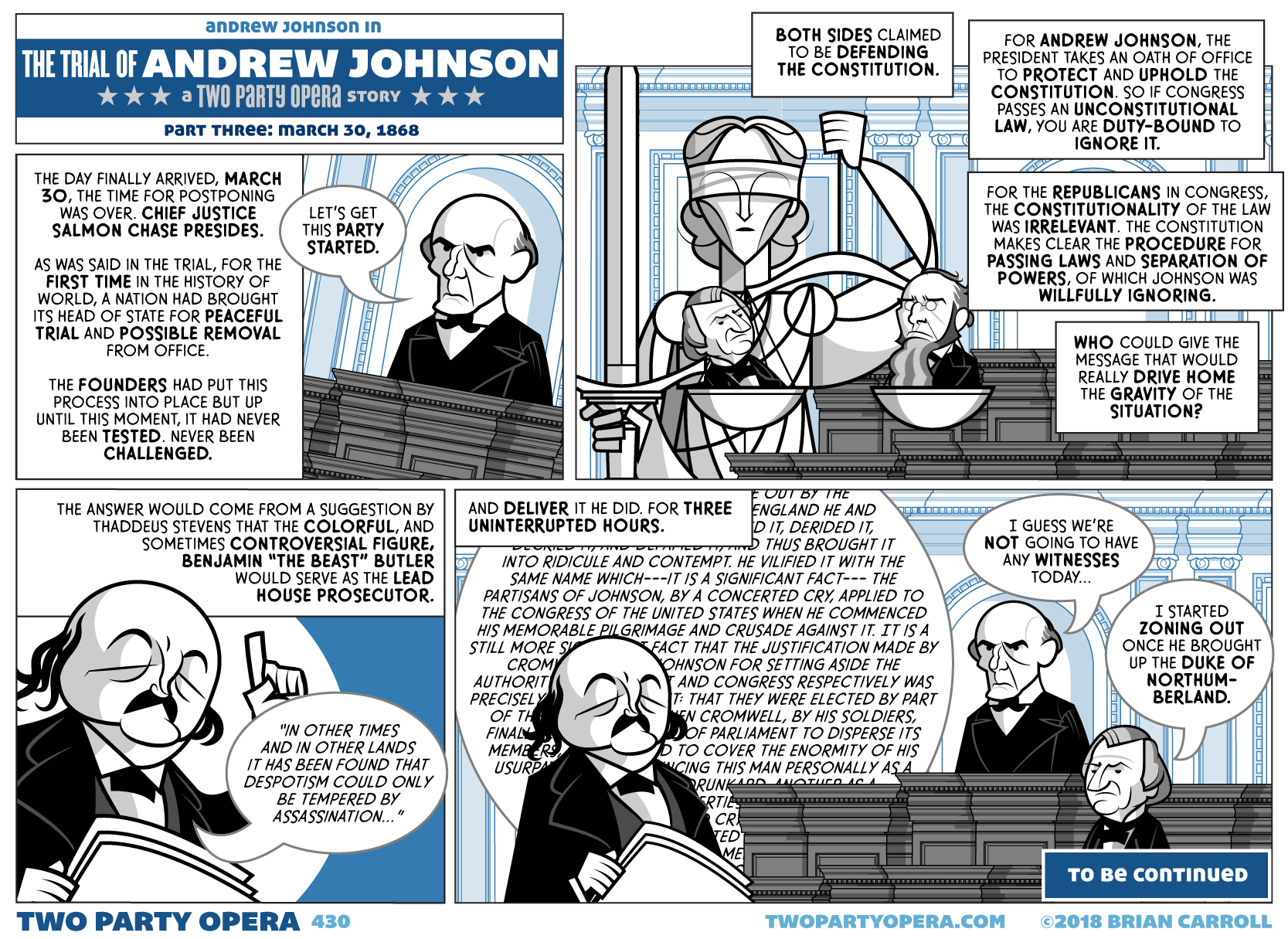 The Trial of Andrew Johnson – Part Three: March 30, 1868