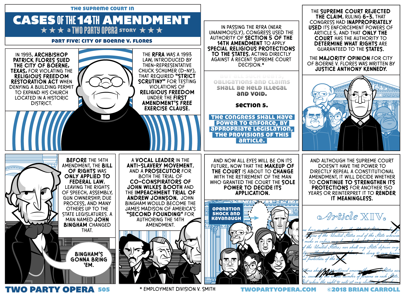 Cases of the 14th Amendment – Part Five: City of Boerne v. Flores